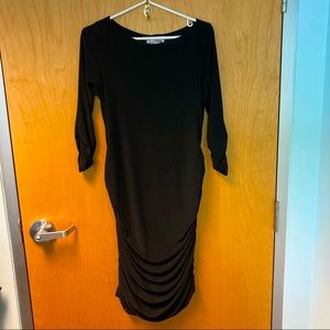 JOSEPH RIBKOFF Ruched Cocktail Dress 3/4 sleeves